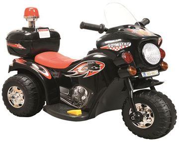 Imagen de Moto a Batería negra con sirena