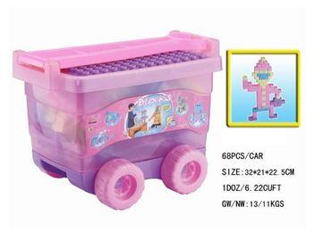 Imagen de Bloques en carro rosa Producto de saldo con detalles