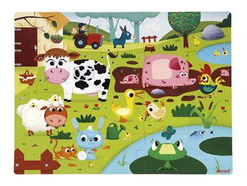 Imagen de Puzzle Granja 20 piezas Grande Janod