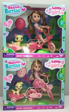 Imagen de Muñeca en bicicleta