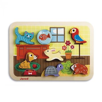 Imagen de Encastre de madera, mascotas Janod