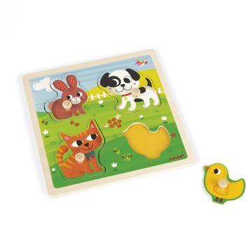 Imagen de Encastre de madera, mascotas  táctil Janod