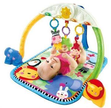 Imagen de Gimnasio alfombra para bebe con actividades
