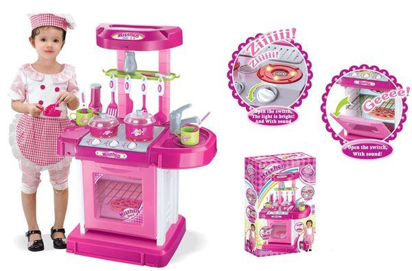 Imagen de Cocina de juguete chica con luces y música