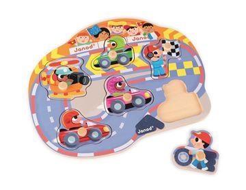 Imagen de Encastre formas autos de carrera Janod