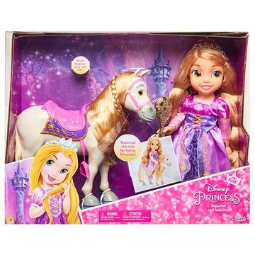 Imagen de Muñeca Rapunzel con caballo original Disney